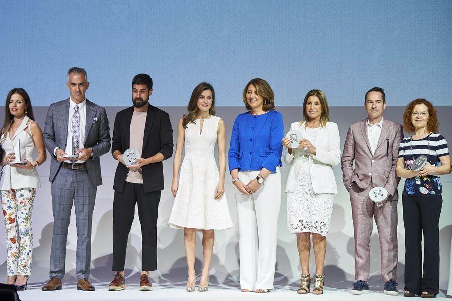 La reine Letizia d'Espagne, à Madrid le 17 juillet 2017