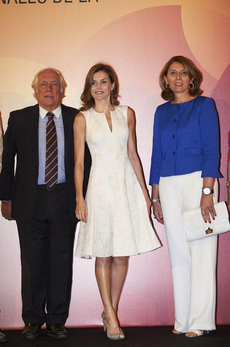 La reine d'Espagne Letizia à Madrid, le 17 juillet 2017