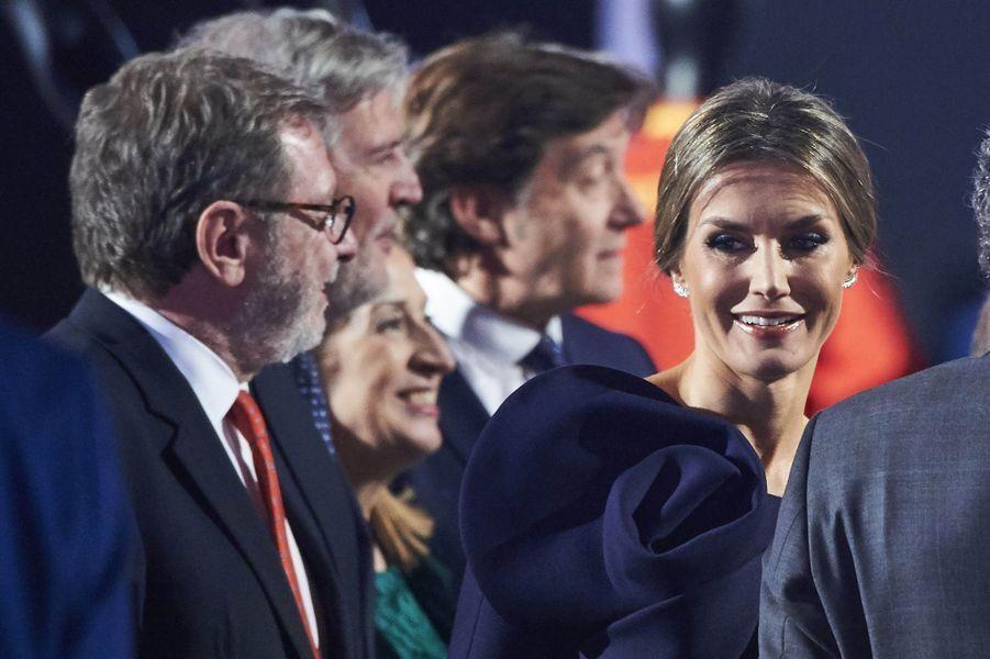 La reine Letizia et le roi Felipe VI d'Espagne à Madrid, le 4 décembre 2017