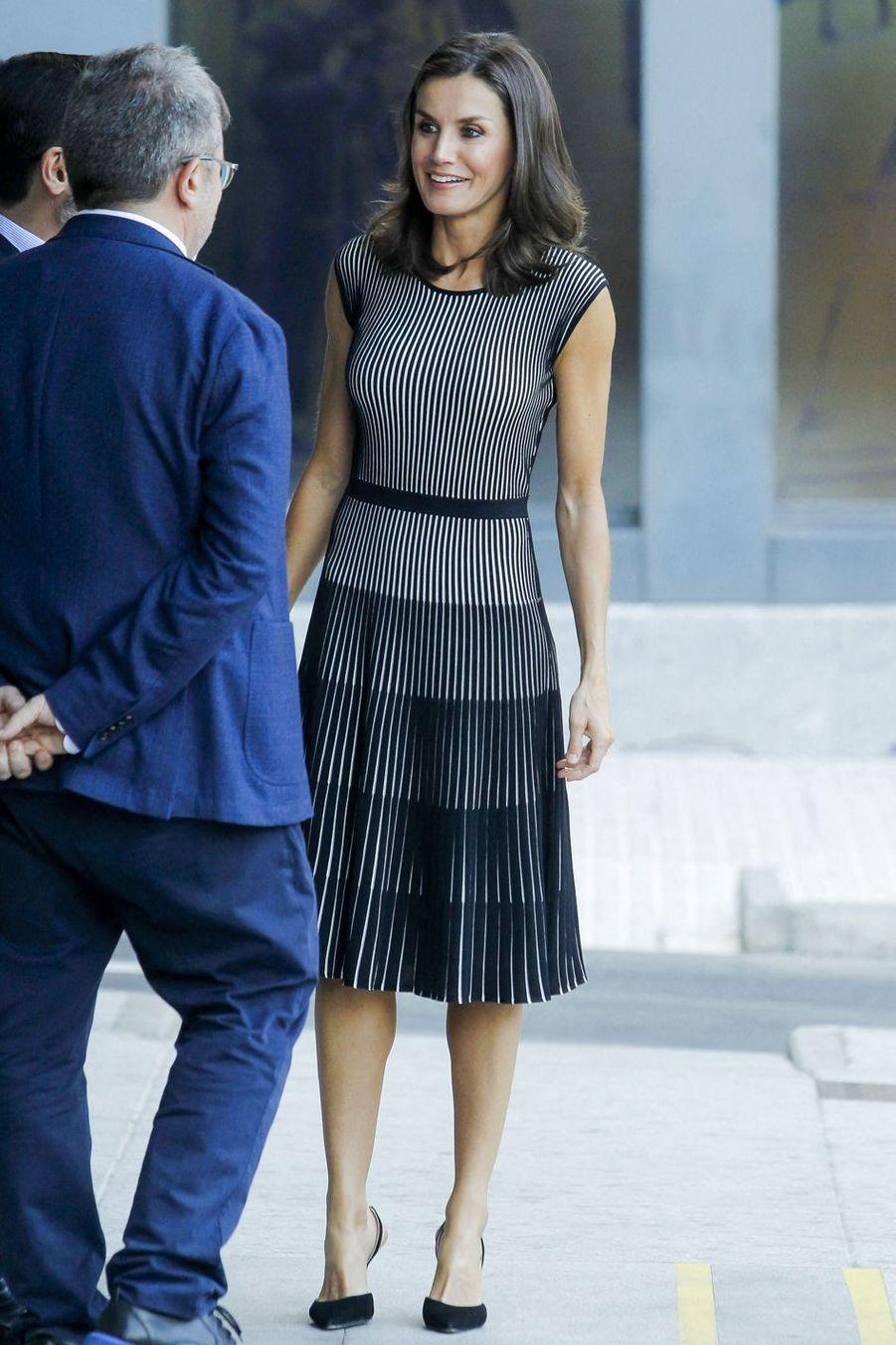 La reine Letizia d'Espagne à Madrid, le 18 juillet 2019