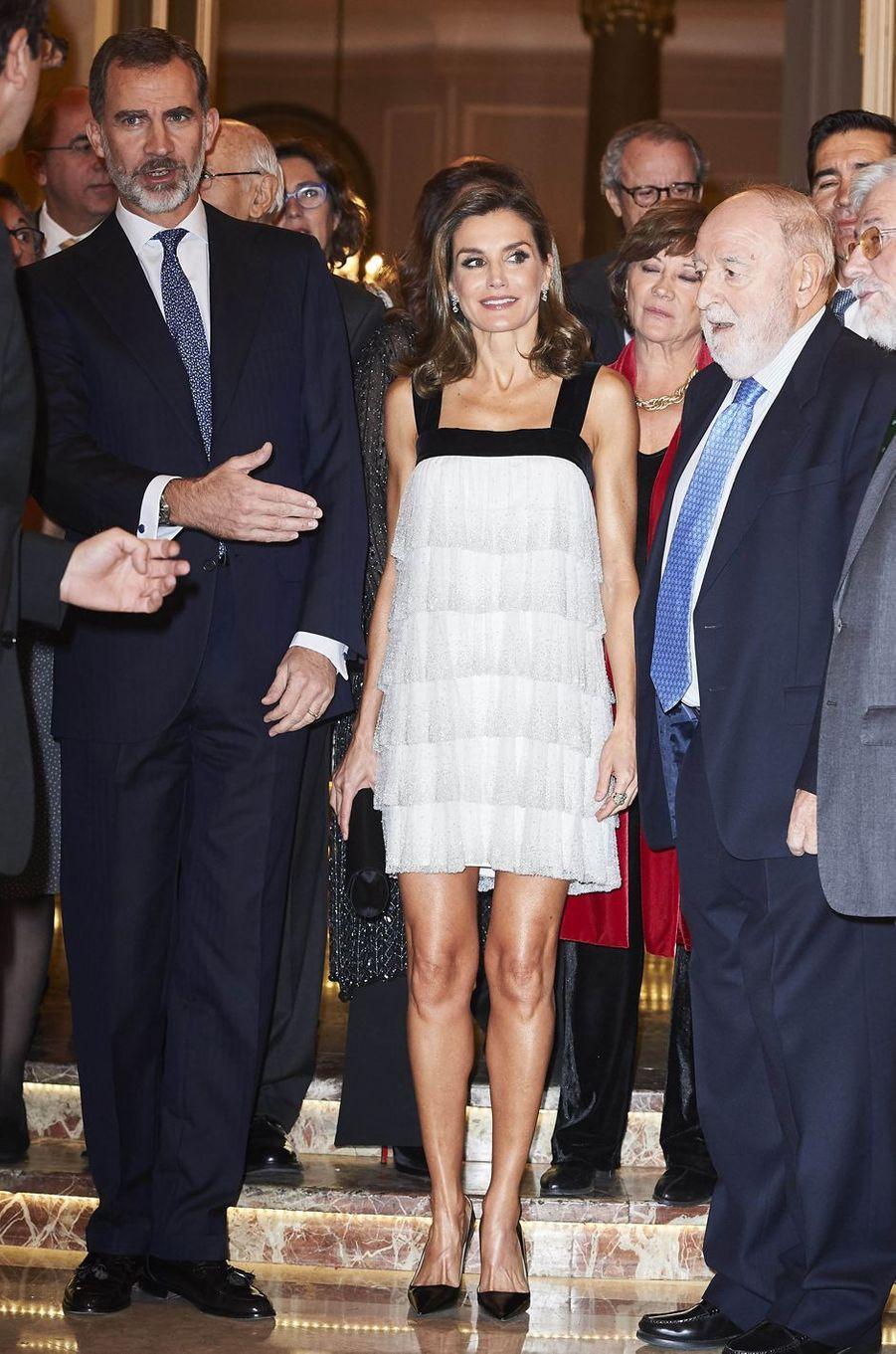 Le roi Felipe VI d'Espagne et la reine Letizia à Madrid, le 22 novembre 2017