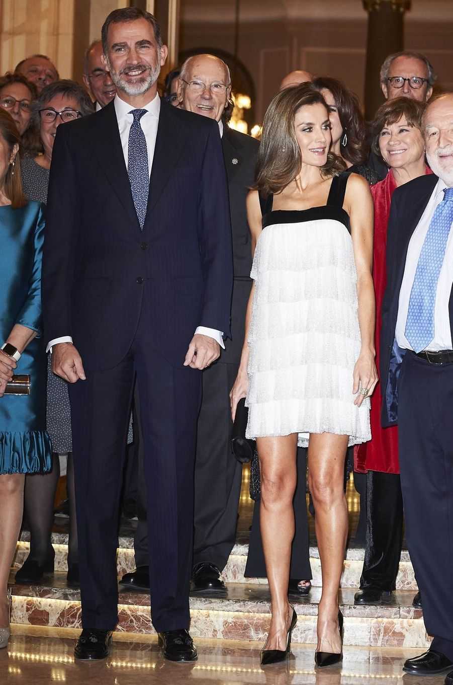 Le roi Felipe VI et la reine Letizia d'Espagne à Madrid, le 22 novembre 2017
