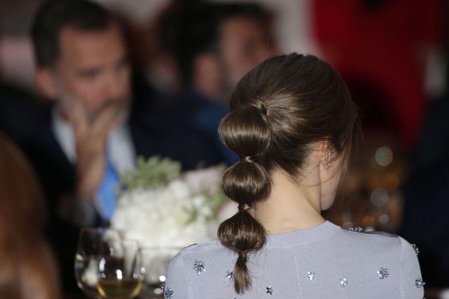 La reine Letizia d'Espagne à Madrid, le 30 mai 2017