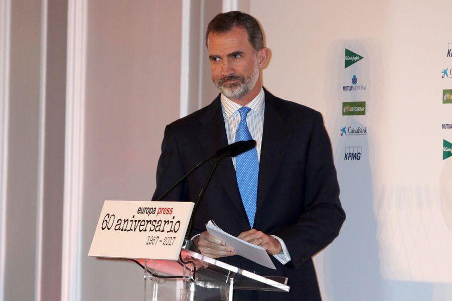 Le roi Felipe VI d'Espagne à Madrid, le 30 mai 2017