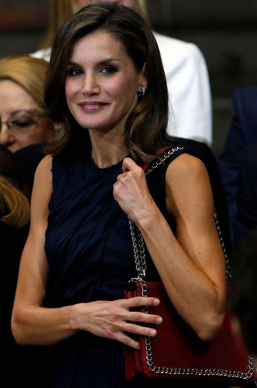 La reine Letizia d'Espagne à un sommet mondial sur le cancer à Mexico, le 14 novembre 2017