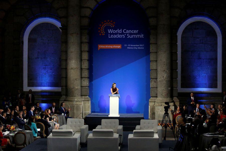 La reine Letizia d'Espagne à Mexico, le 14 novembre 2017