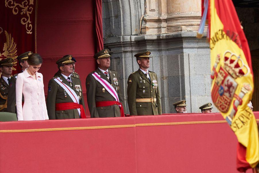 La reine Letizia d'Espagne à Salamanque, le 13 juin 2016