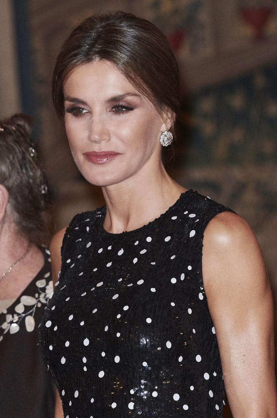 La reine Letizia d'Espagne à Madrid, le 7 novembre 2017