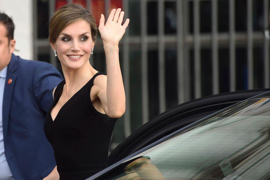 La reine Letizia d'Espagne à Madrid, le 15 septembre 2016
