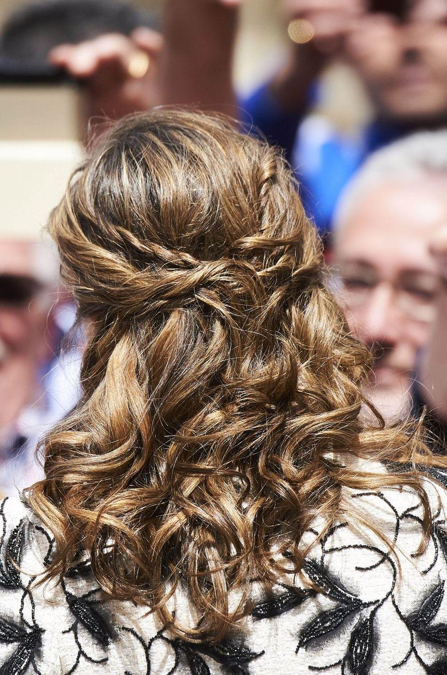 La reine Letizia d'Espagne à Alcala de Henares, le 20 avril 2017