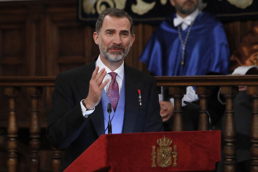 Le roi Felipe VI d'Espagne à Alcala de Henares, le 20 avril 2017