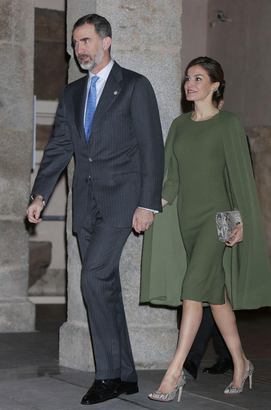 Le roi Felipe VI et la reine Letizia d'Espagne à Alcalá de Henares, le 6 février 2017