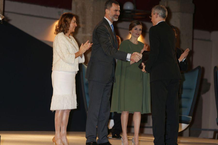 La reine Letizia et le roi Felipe VI d'Espagne à Alcalá de Henares, le 6 février 2017