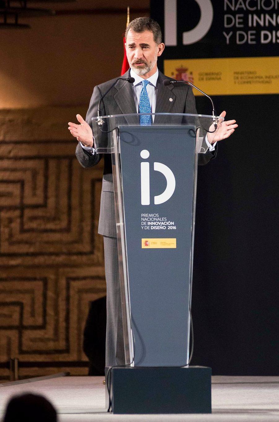 Le roi Felipe VI d'Espagne à Alcalá de Henares, le 6 février 2017