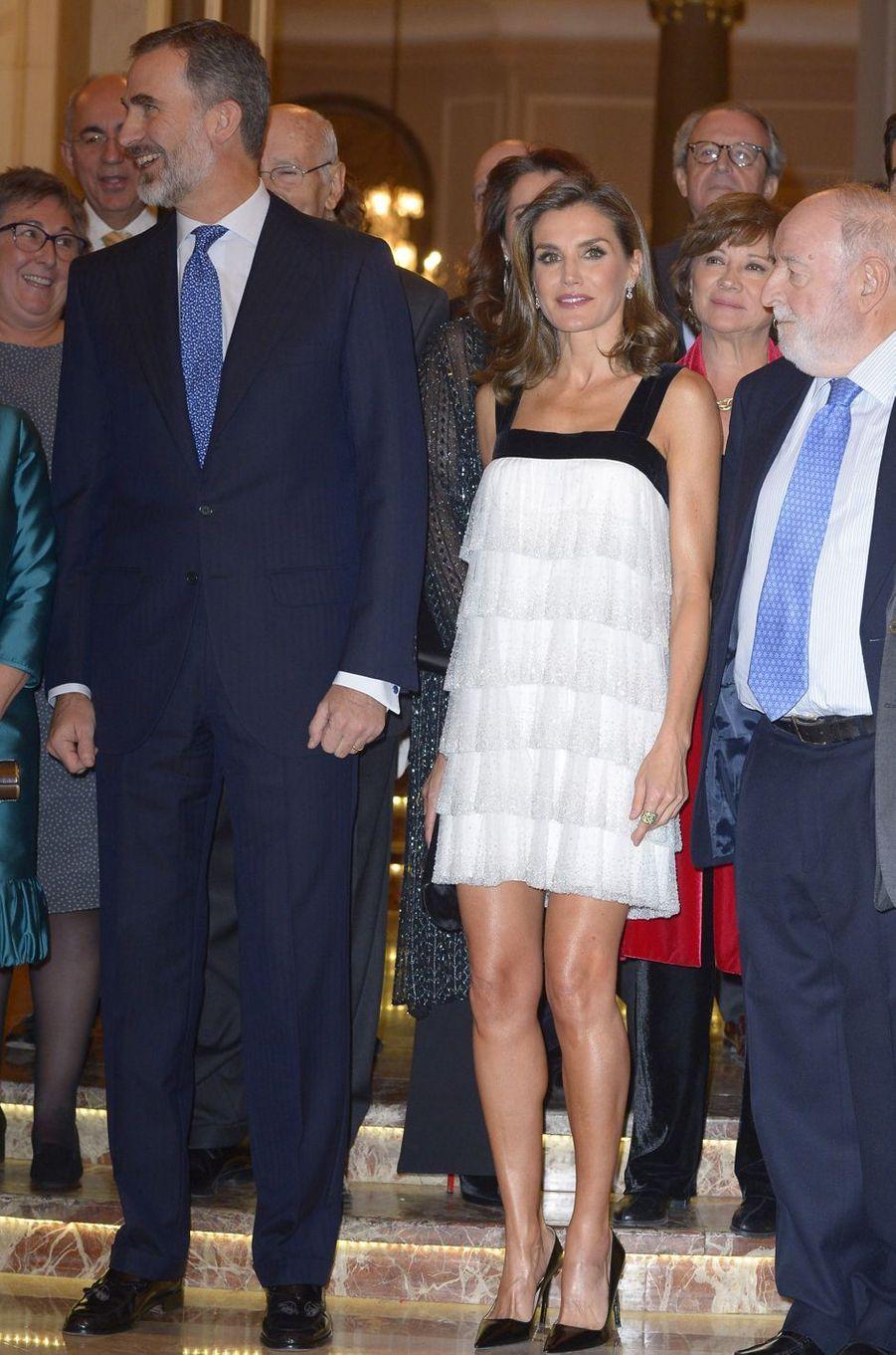 La reine Letizia d'Espagne, le 22 novembre 2017