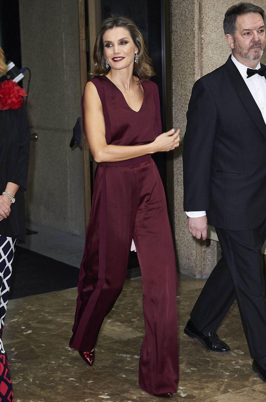 La reine Letizia d'Espagne, le 26 octobre 2017
