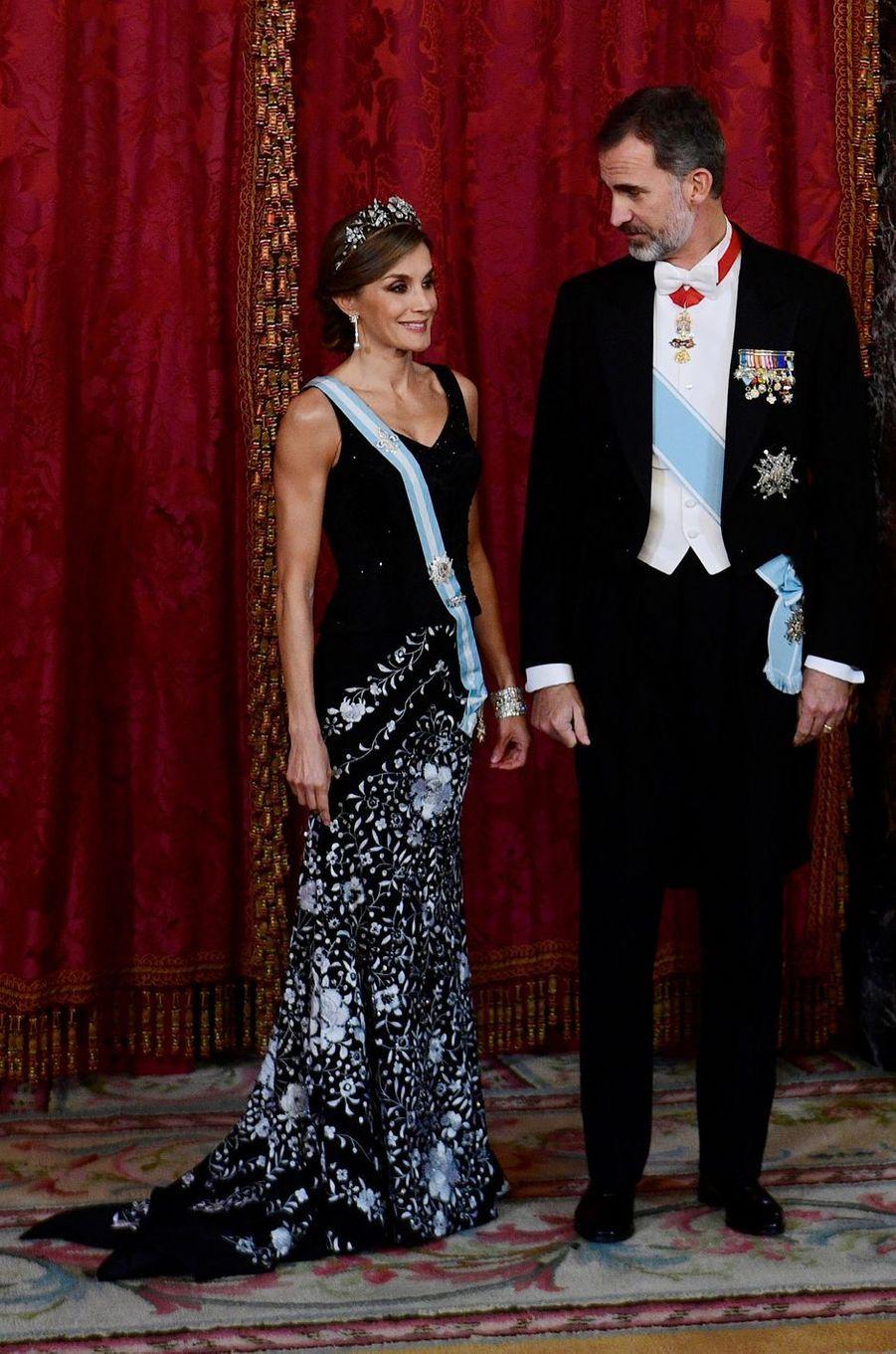 La reine Letizia d'Espagne, le 6 novembre 2017