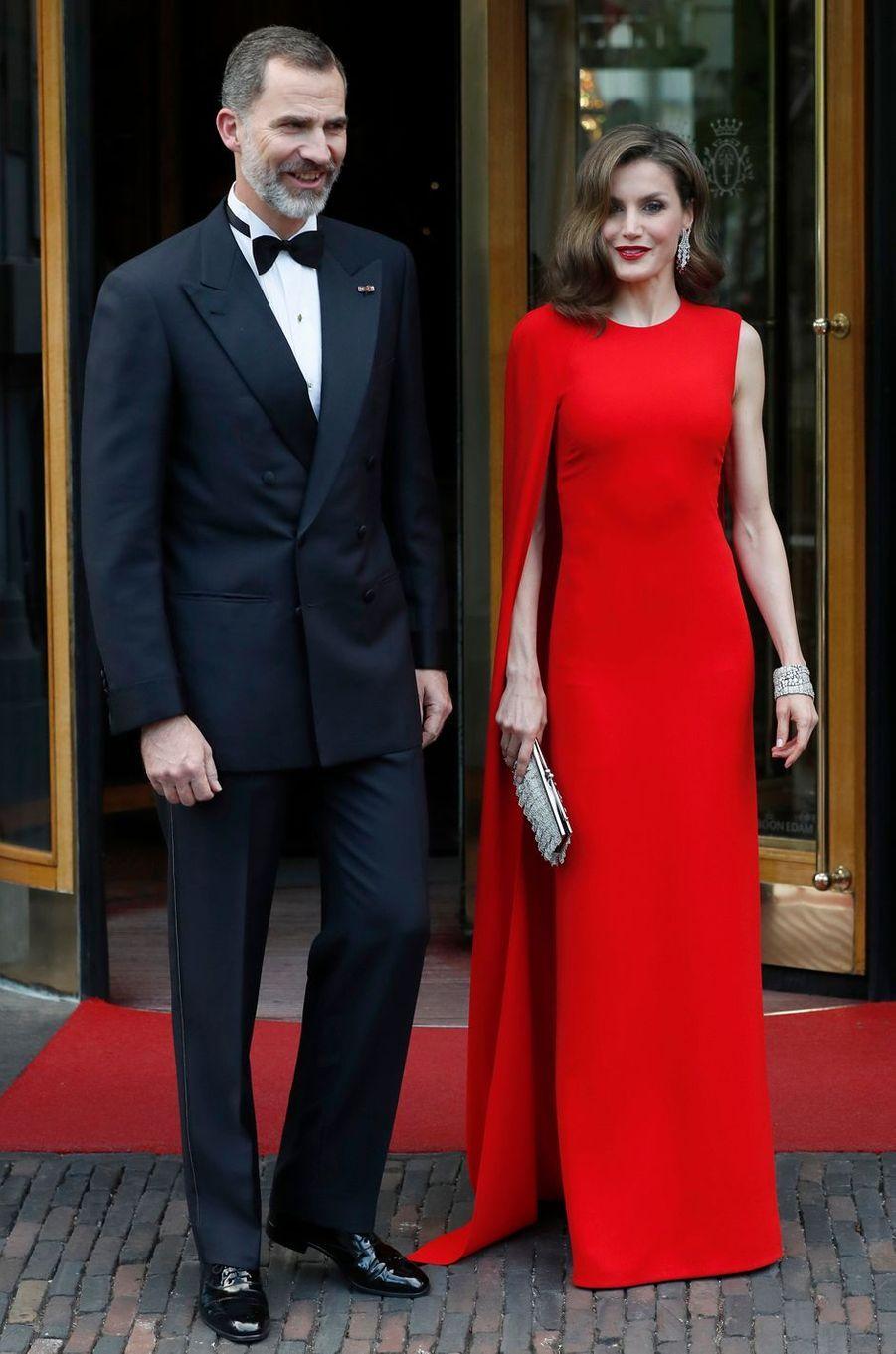 La reine Letizia d'Espagne, le 29 avril 2017