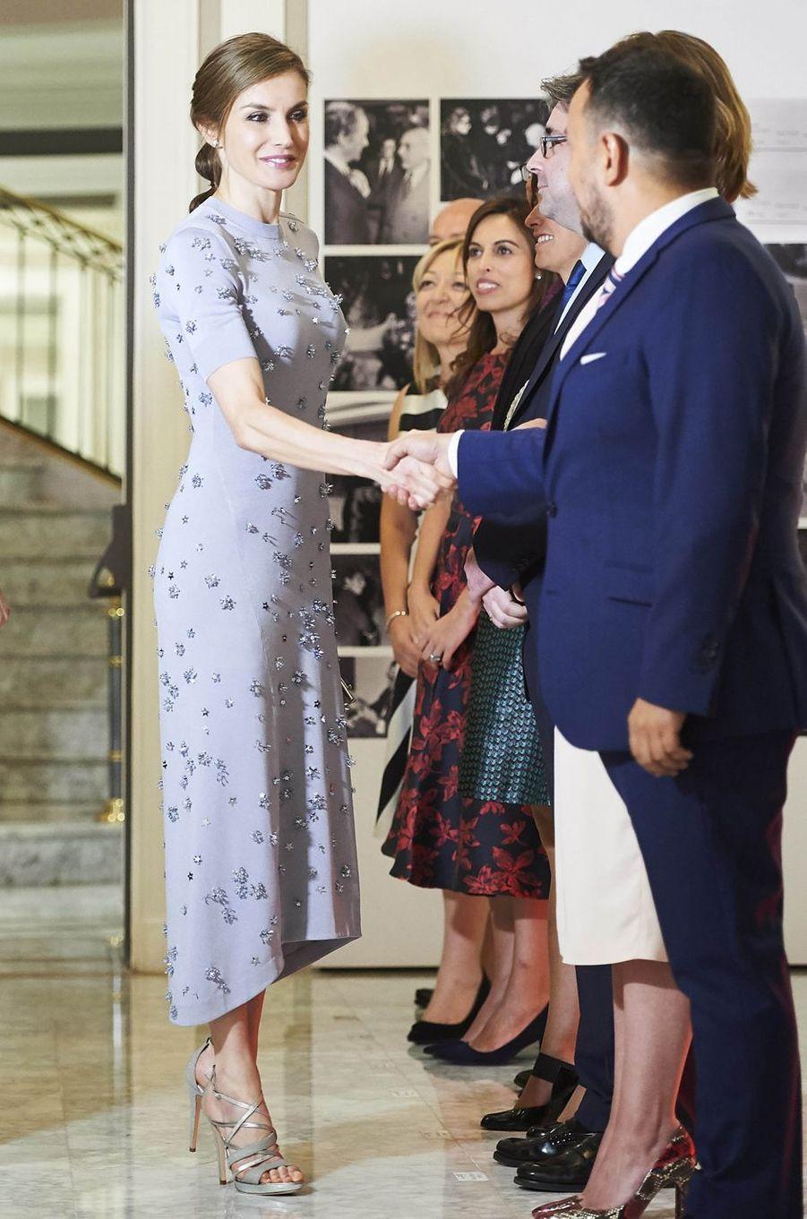 La reine Letizia d'Espagne, le 30 mai 2017
