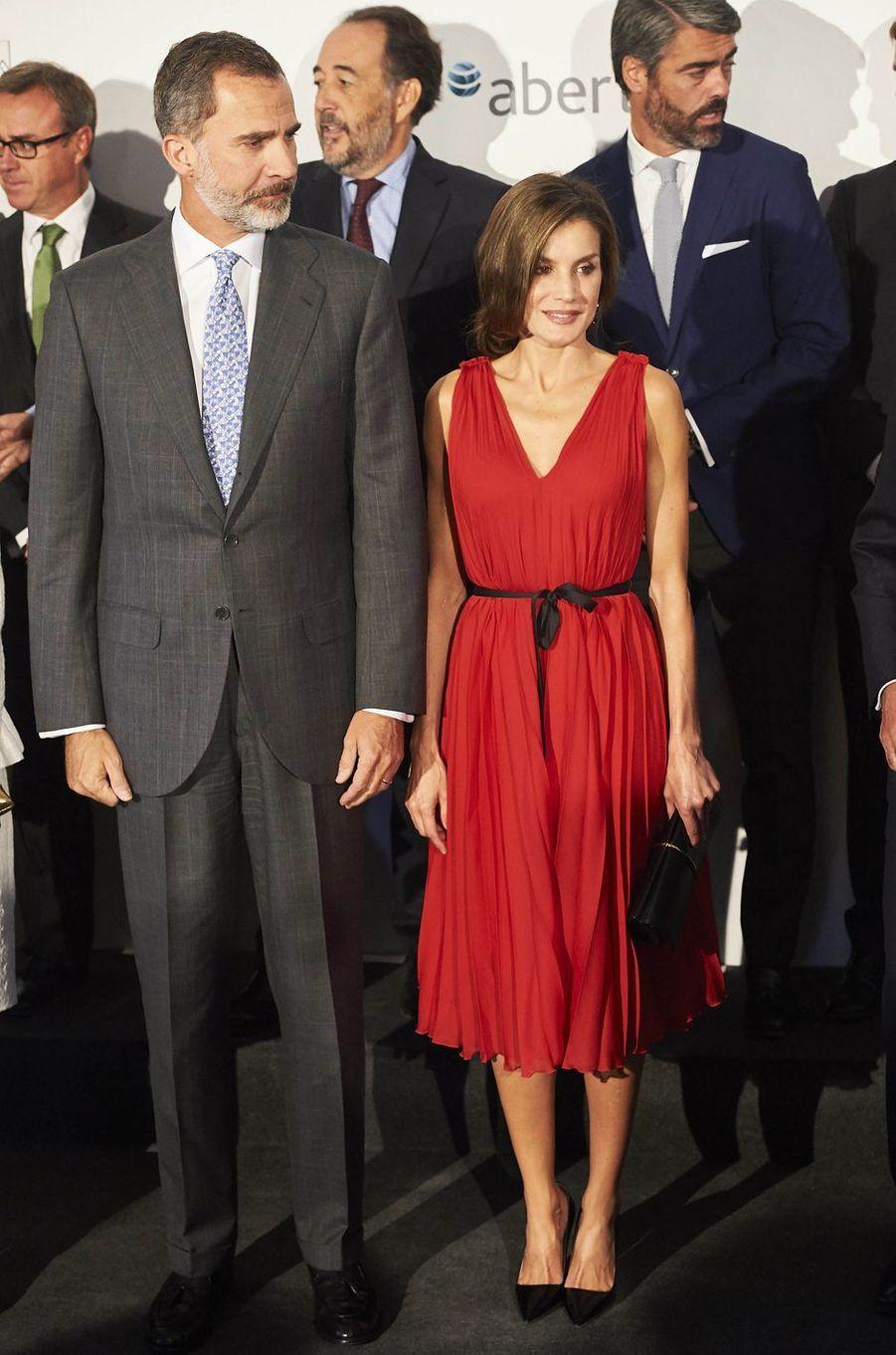 La reine Letizia d'Espagne, le 21 septembre 2017
