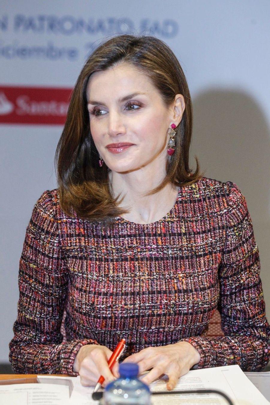 La Reine Letizia D'Espagne Lors D'une Réunion De La Fondation D'aide Contre La Toxicomanie 11
