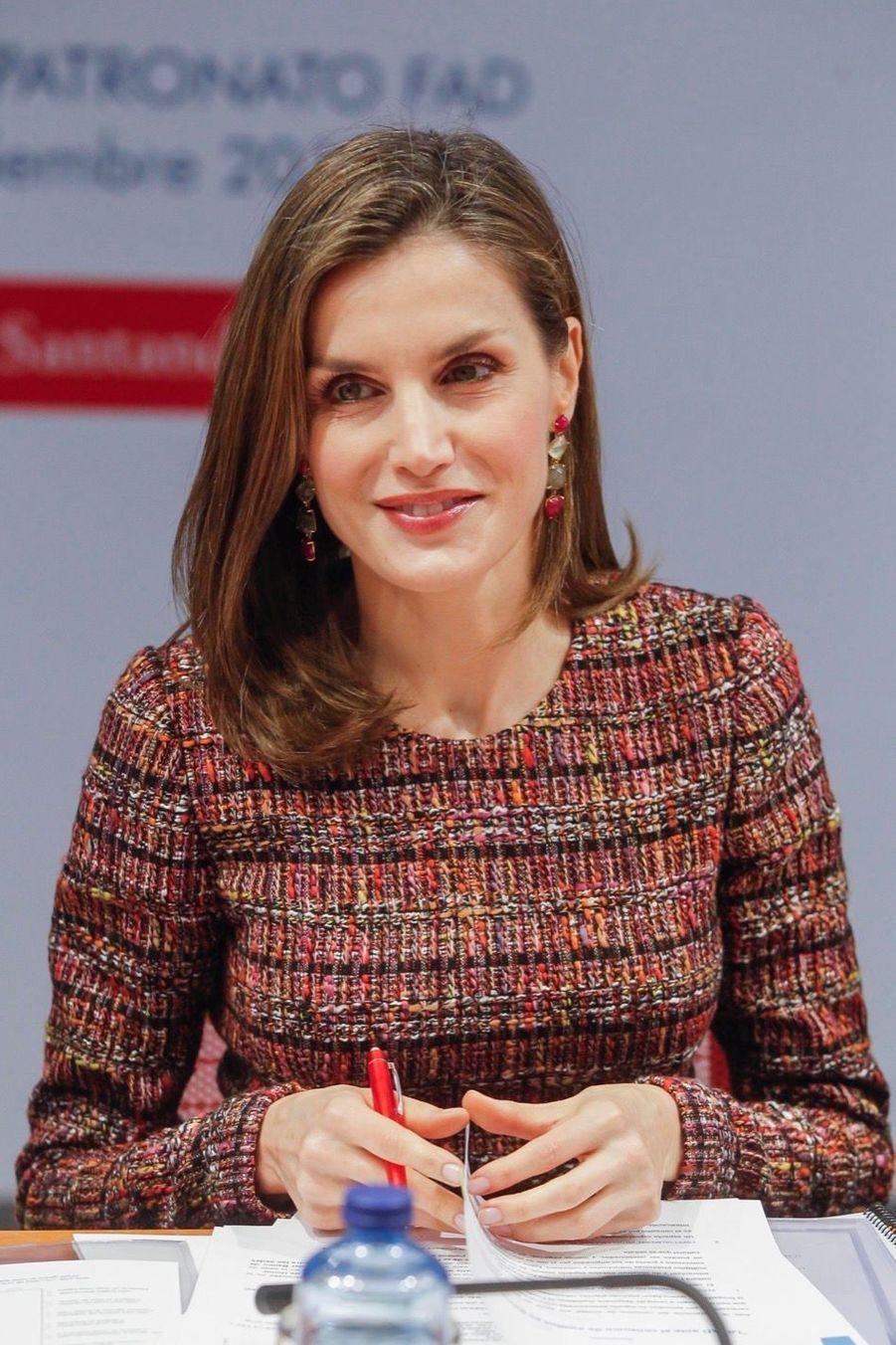 La Reine Letizia D'Espagne Lors D'une Réunion De La Fondation D'aide Contre La Toxicomanie 14
