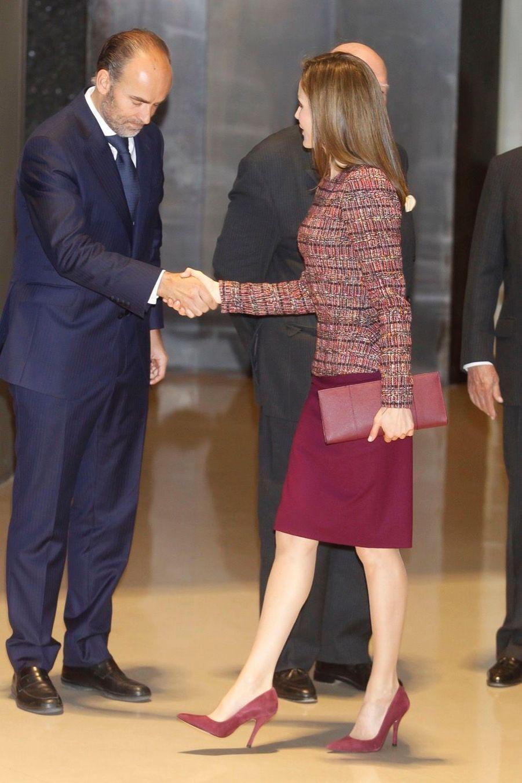 La Reine Letizia D'Espagne Lors D'une Réunion De La Fondation D'aide Contre La Toxicomanie 9