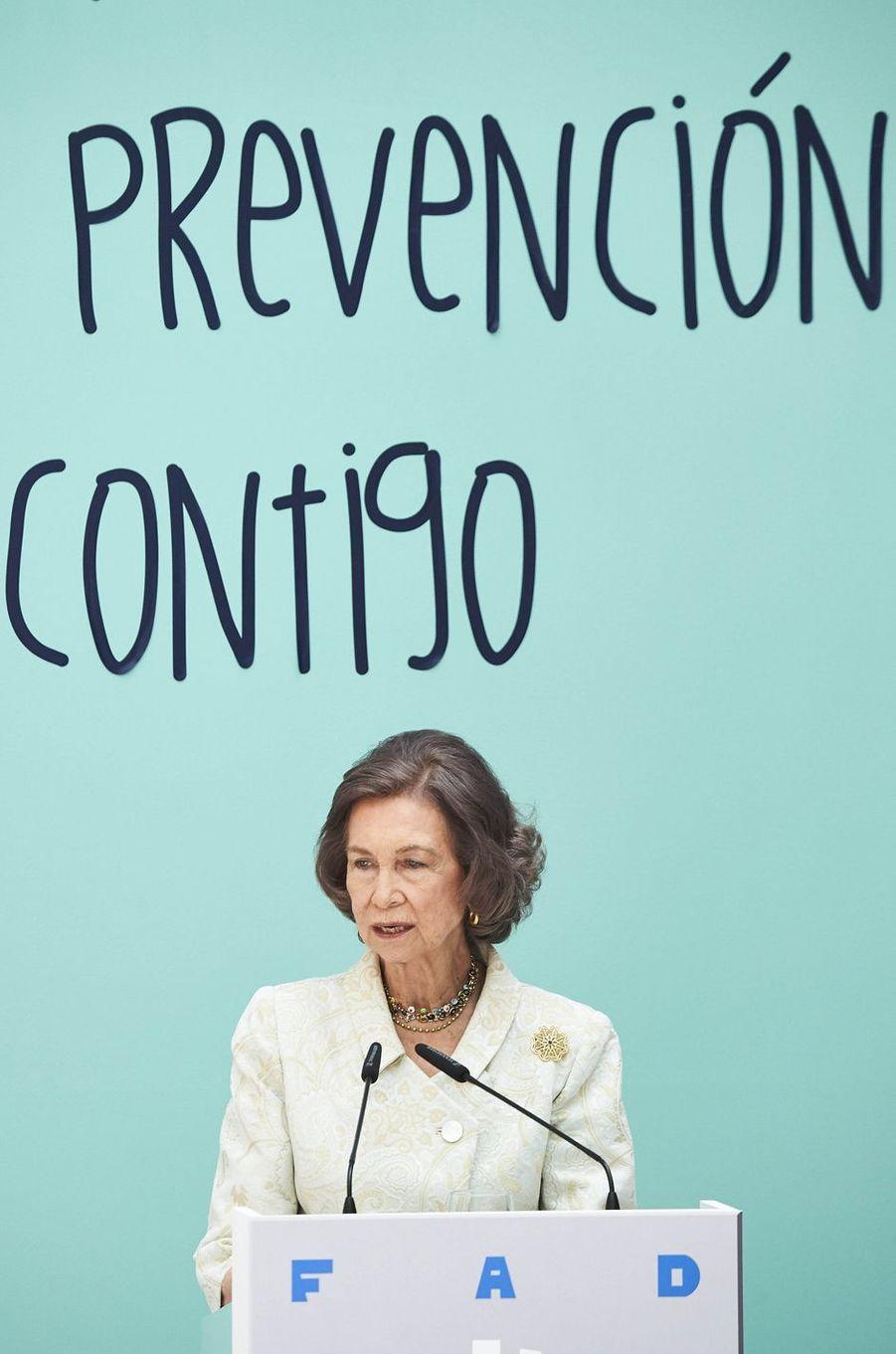 L'ex-reine Sofia d'Espagne à Madrid, le 22 juin 2016