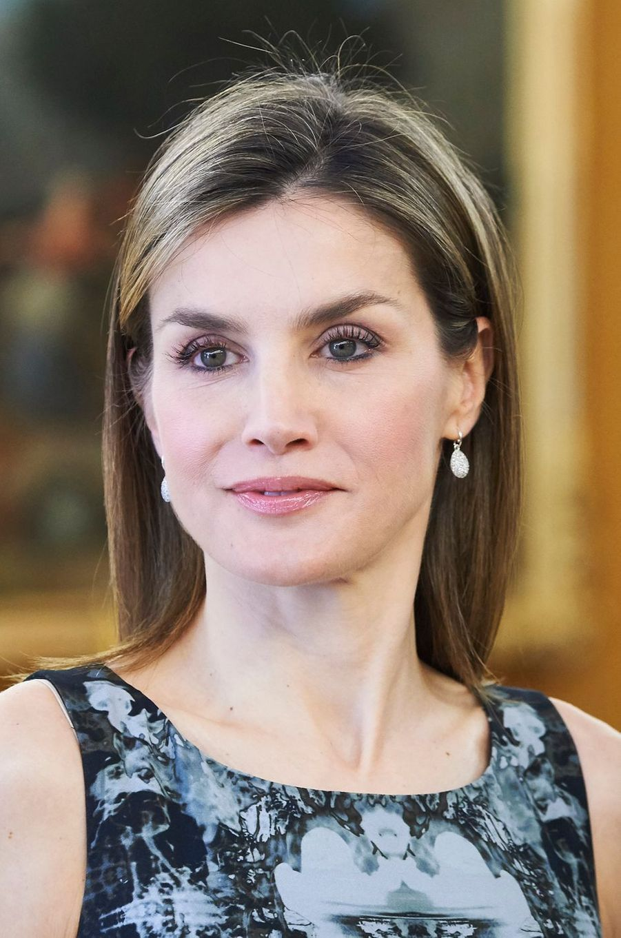 La reine Letizia d'Espagne à Madrid, le 6 juin 2016