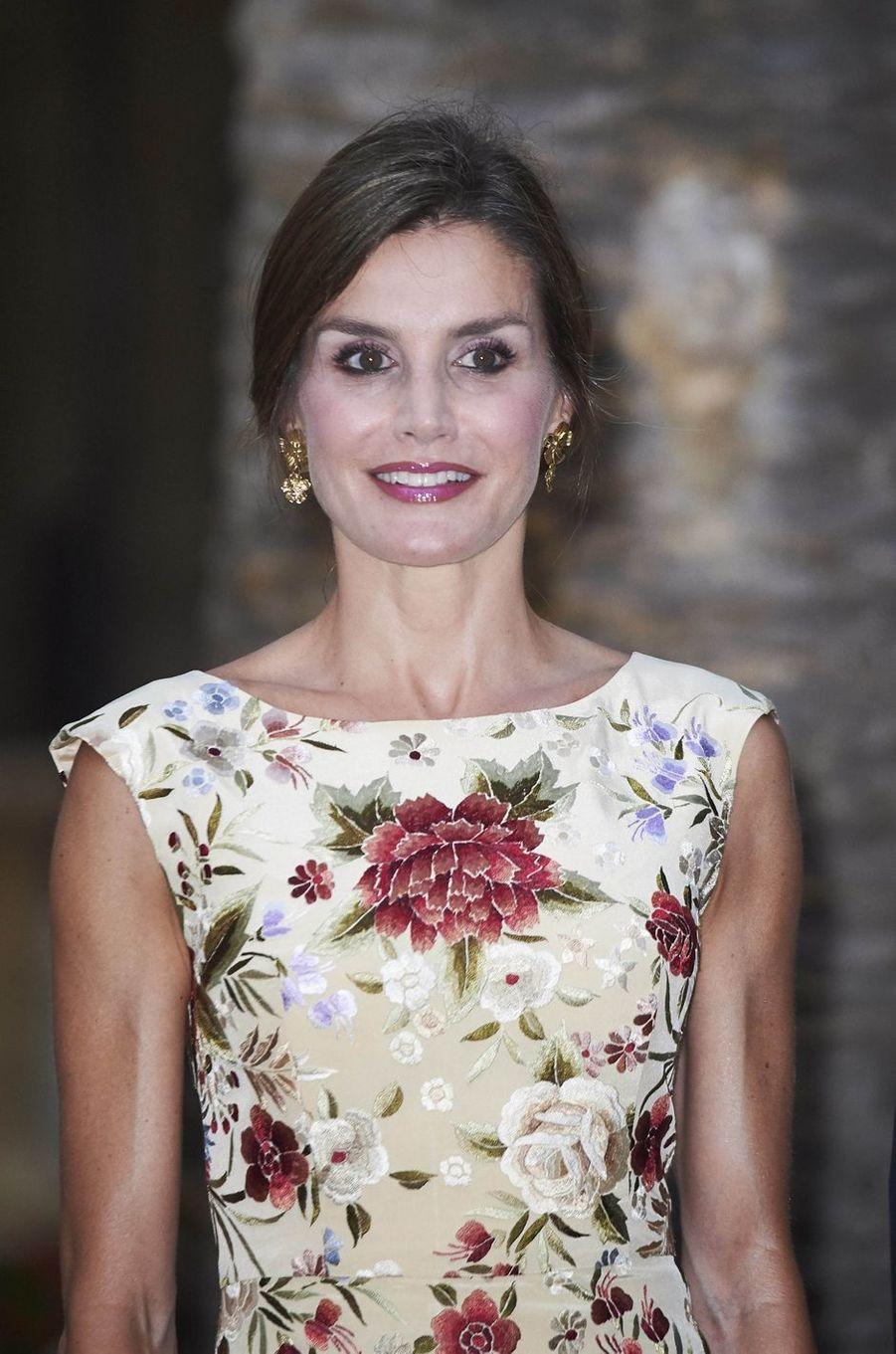 La reine Letizia d'Espagne à Palma de Majorque, le 4 août 2017