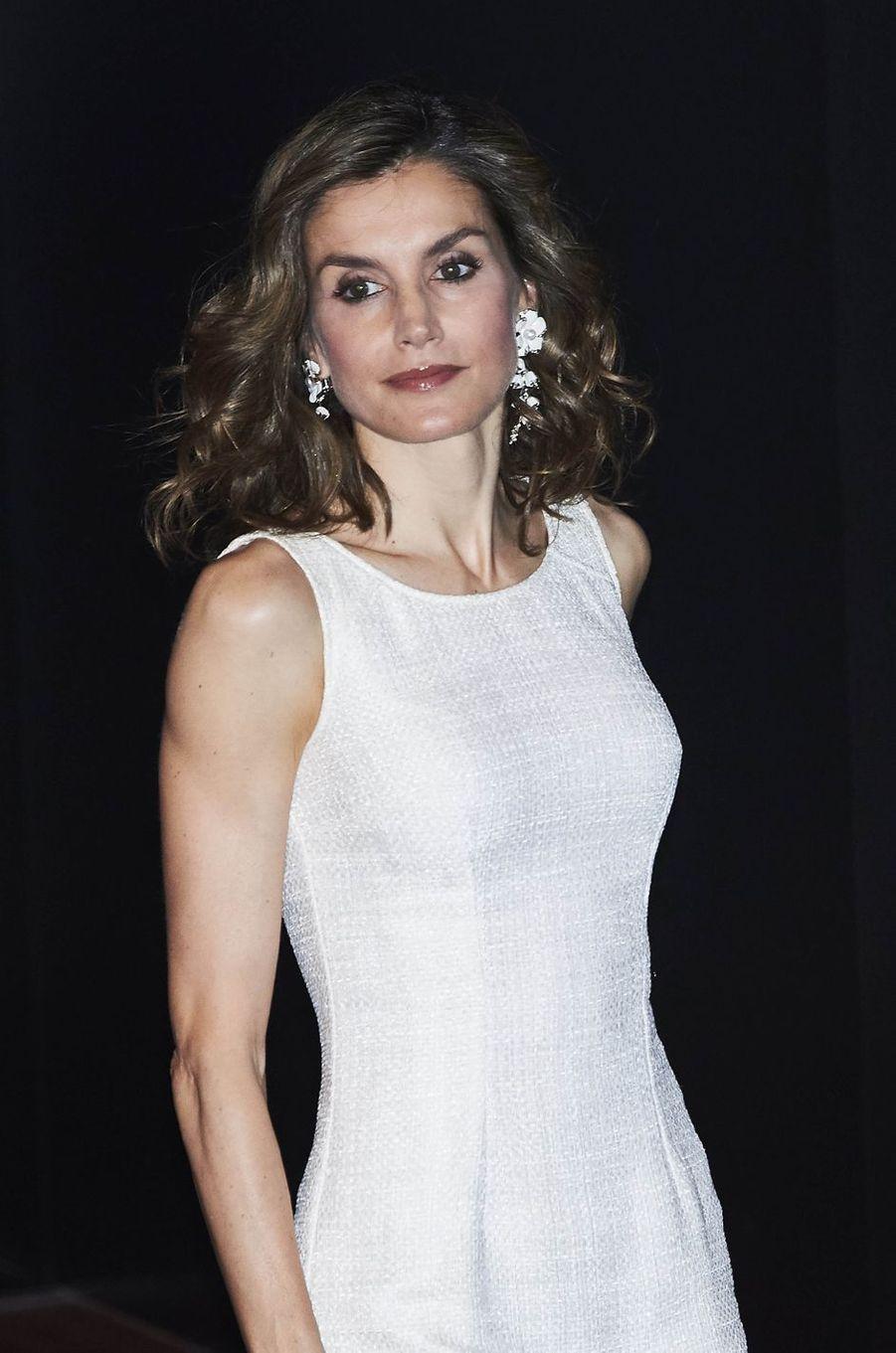 La reine Letizia d'Espagne à Madrid, le 12 juillet 2016