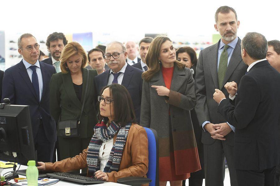 La reine Letizia et le roi Felipe VI d'Espagne à Portillo de Toledo, le 19 janvier 2018