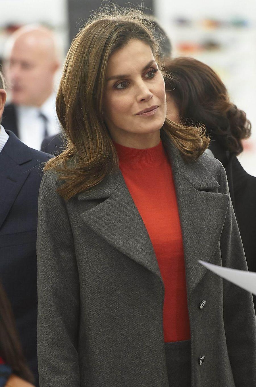 La reine Letizia d'Espagne à Portillo de Toledo, le 19 janvier 2018