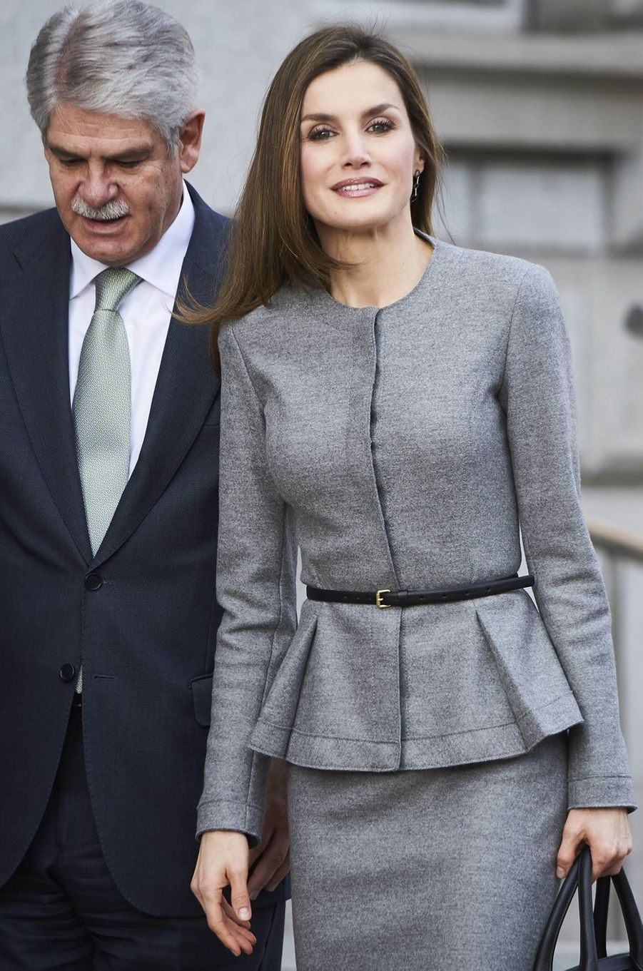 La reine Letizia d'Espagne à Madrid, le 7 mars 2017