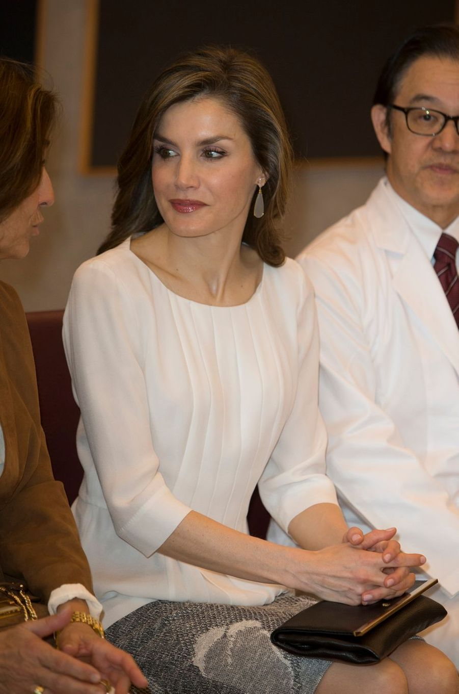 La reine Letizia d'Espagne à Tokyo au Japon, le 6 avril 2017