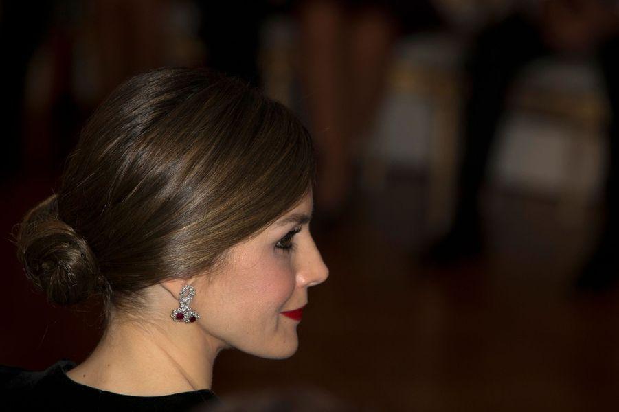 La reine Letizia d'Espagne à Tokyo, le 6 avril 2017