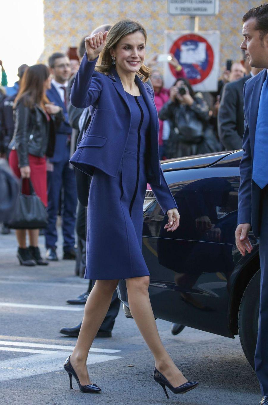 La reine Letizia d'Espagne à Valence, le 24 novembre 2016