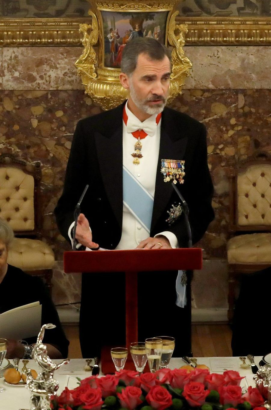 Le roi Felipe VI d'Espagne à Madrid, le 6 novembre 2017