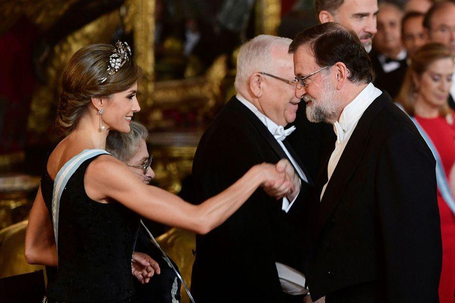 La reine Letizia d'Espagne à Madrid, le 6 novembre 2017