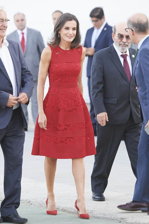 Letizia d'Espagne le 22 juillet 2019 à Valence.