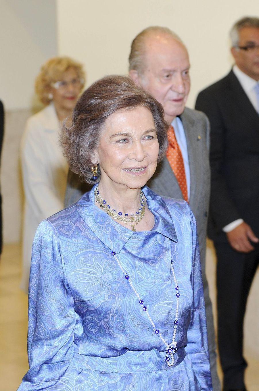 L'ancienne reine Sofia et l'ancien roi Juan Carlos d'Espagne à Madrid, le 22 mai 2017