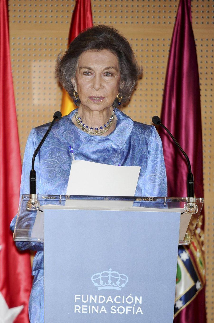 L'ancienne reine Sofia d'Espagne à Madrid, le 22 mai 2017