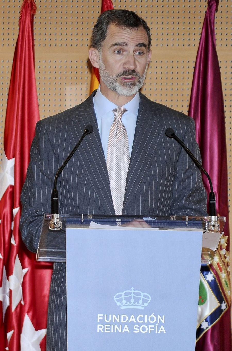 Le roi Felipe VI d'Espagne à Madrid, le 22 mai 2017