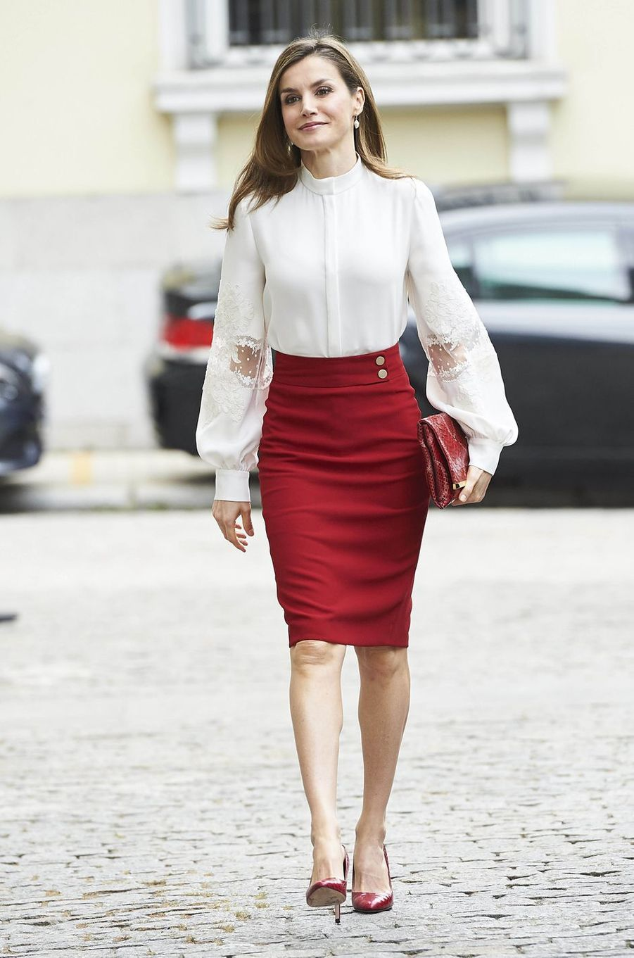 La reine Letizia d'Espagne à Madrid, le 29 mai 2017