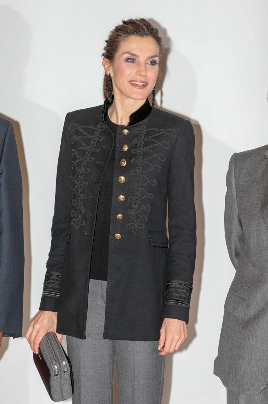 La reine Letizia d'Espagne à la Fondation Champalimaud à Lisbonne, le 30 novembre 2016
