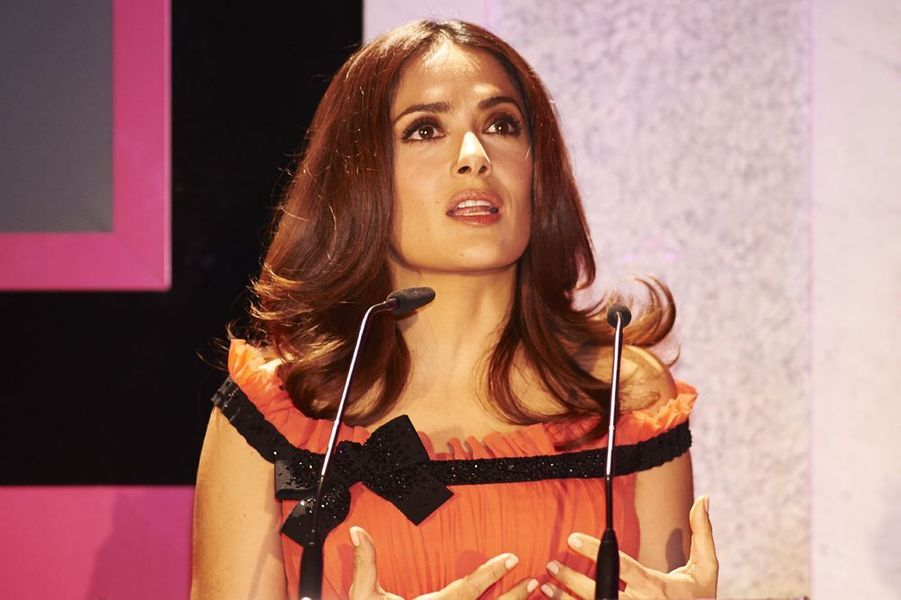 "Salma Hayek aux ""Premios Woman"" à Madrid, le 20 avril 2015"
