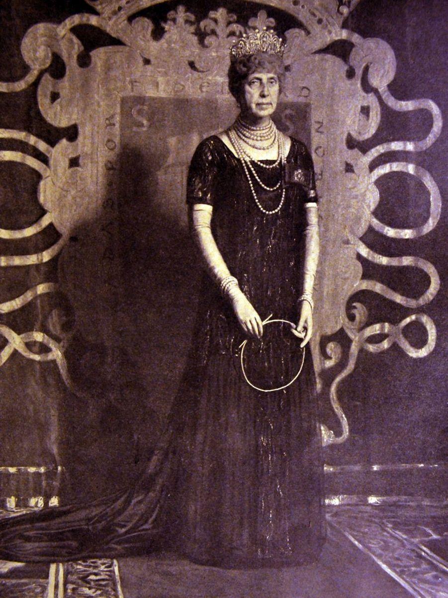 La reine Maria Cristina d'Espagne. Photo non datée