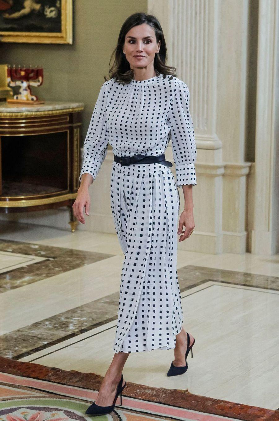 La reine Letizia d'Espagne à Madrid, le 14 juin 2019