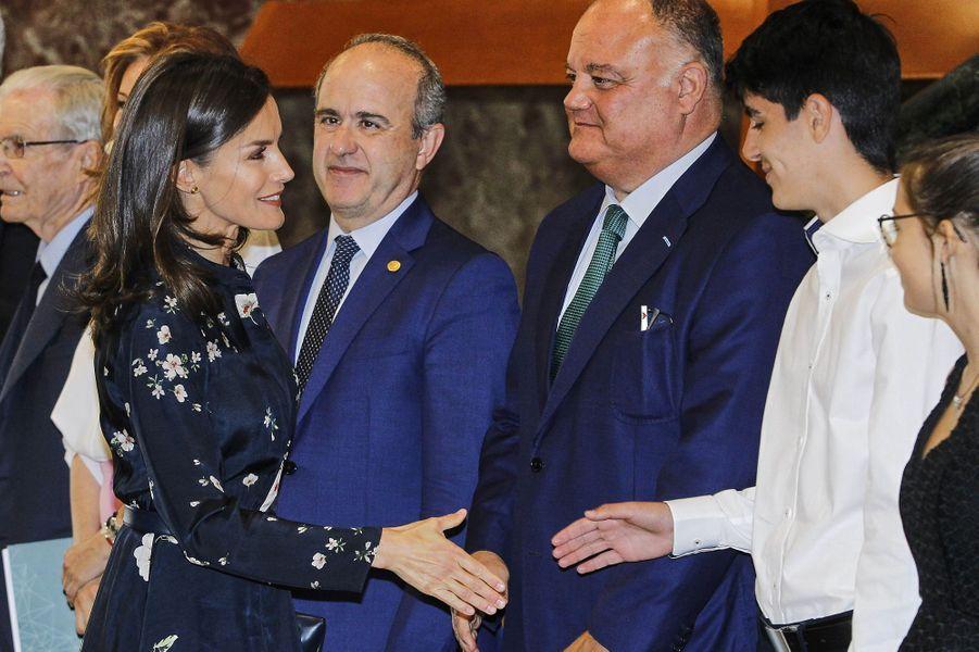 La reine Letizia d'Espagne, le 11 juin 2019 à Madrid