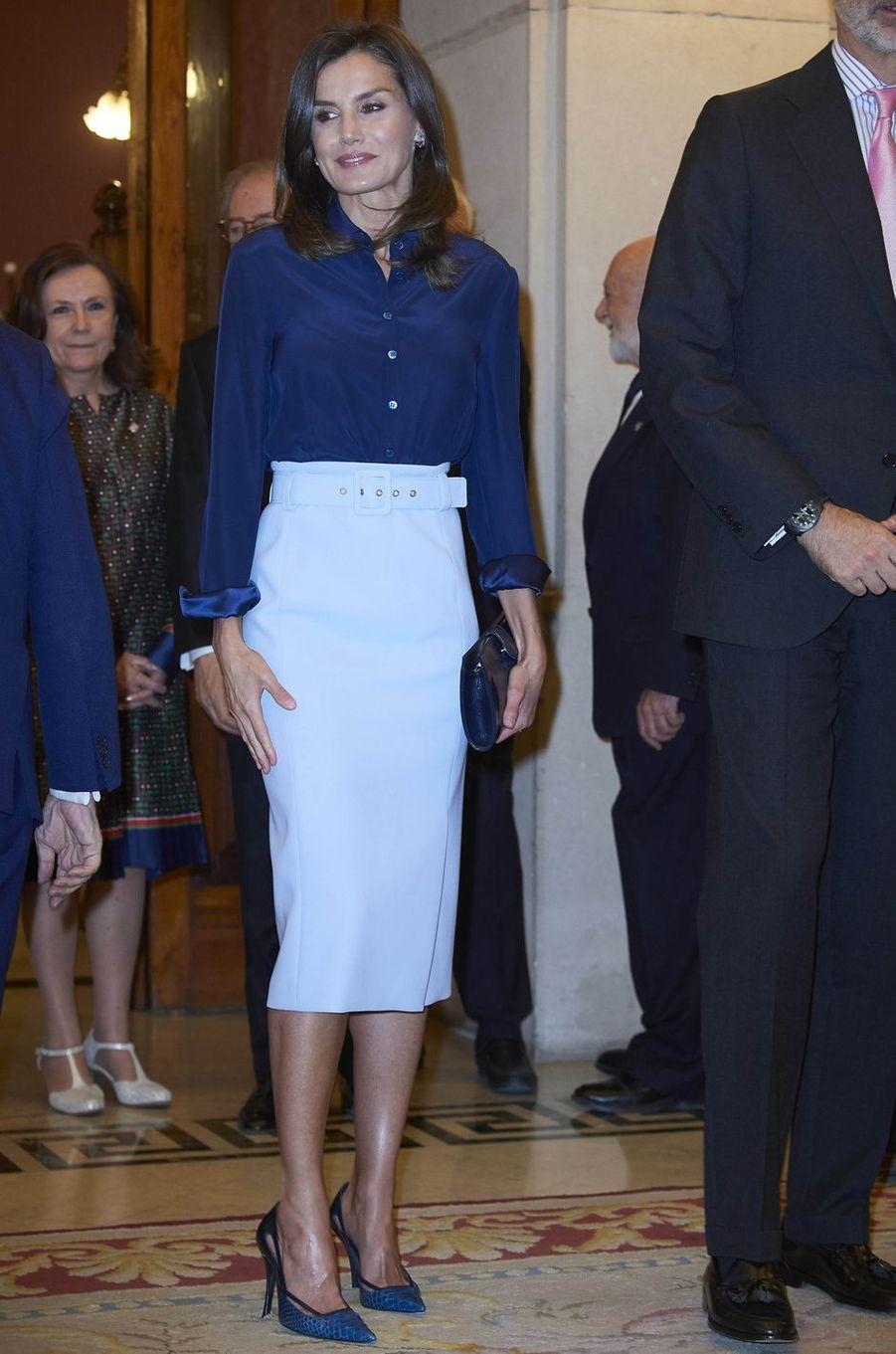La reine Letizia d'Espagne à Madrid, le 13 juin 2019
